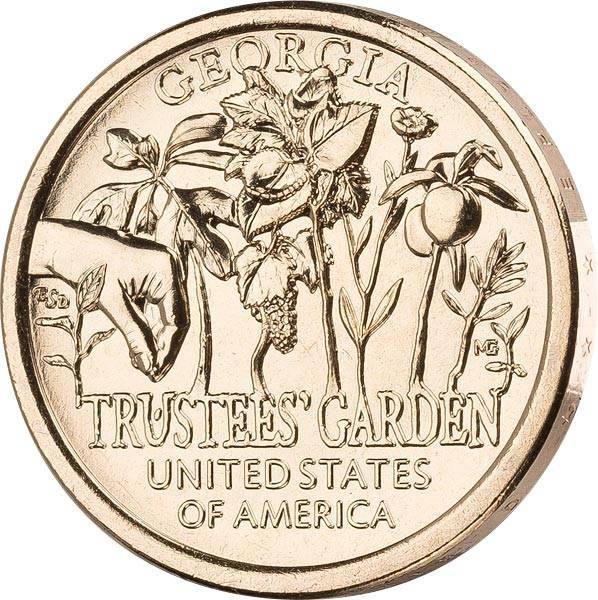 1 Dollar USA American Innovaiton - Trustees Garden 2019