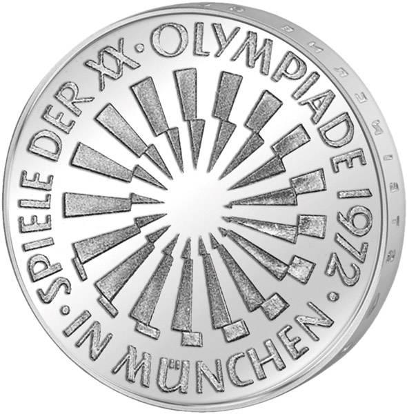 10 DM BRD Olympia II - Spirale München 1972