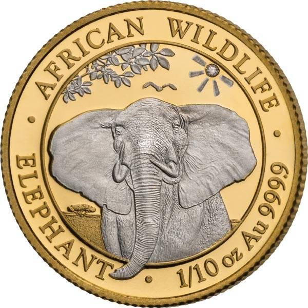 100 Shillings Somalia Precious Premium Edition African Wildlife Elefant 2021