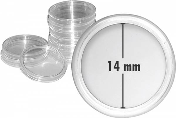 Münzkapseln Innendurchmesser 14 mm