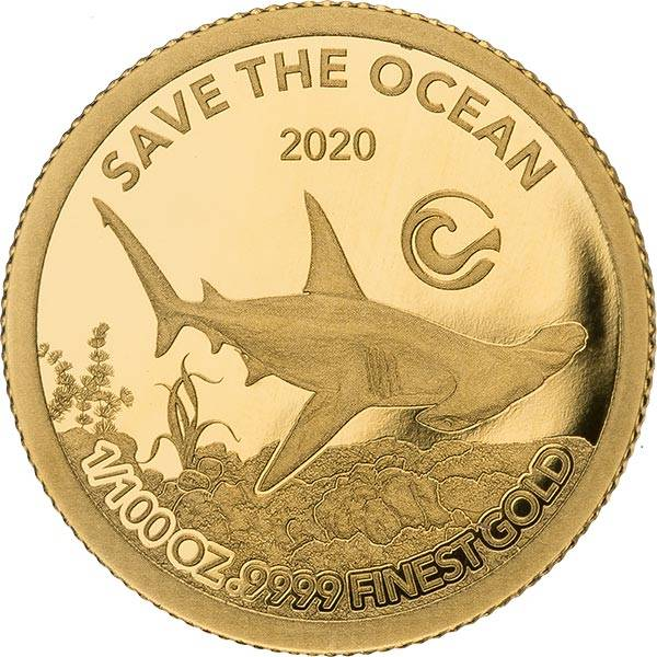 100 Francs Elfenbeinküste Hammerhai 2020