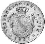 Kronentaler Silber Großherzog Carl Friedrich 1814-19 ss-vz