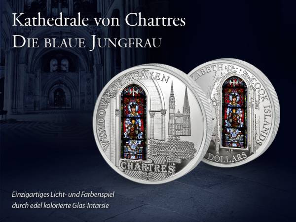 10 Dollars Cook Inseln Kathedrale von Chartres 2013 Prooflike