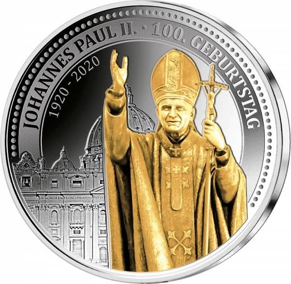 Gedenkprägung 100. Geburtstag von Papst Johannes Paul II. 1920-2020