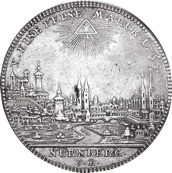 Konventionstaler Freie Reichsstadt Nürnberg Stadtansicht 1765/1768