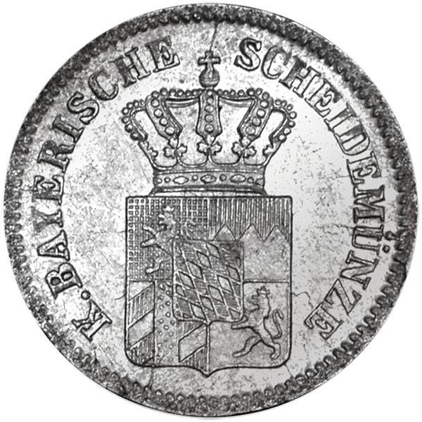 1 Kreuzer Bayern König Ludwig II. 1865 - 1871