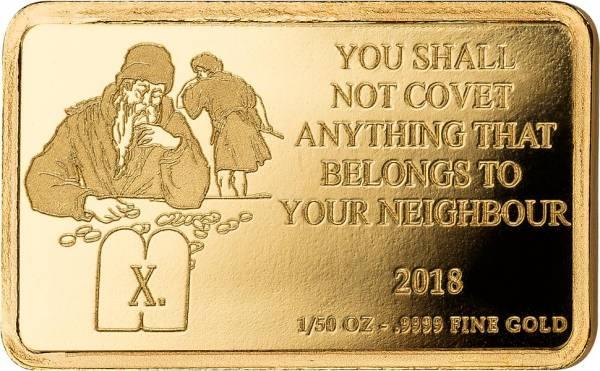 100 Francs Kongo 10. Gebot Du sollst nicht begehren deines Nächsten Haus, Hof, Vieh und alles was sein ist 2018