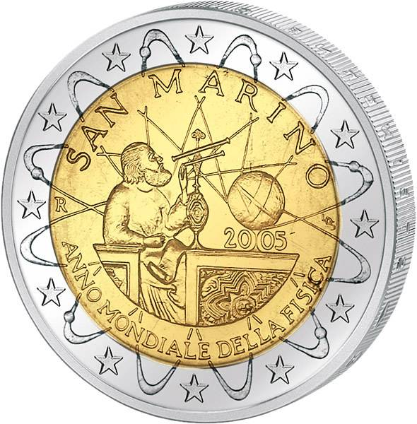 2 Euro San Marino Internationales Jahr der Physik 2005