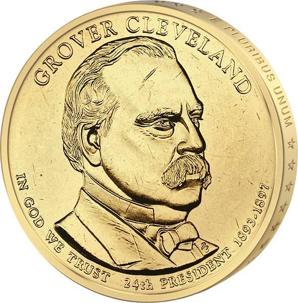 1 Dollar USA  Grover Cleveland 2. Amtszeit 2012  Stempelglanz