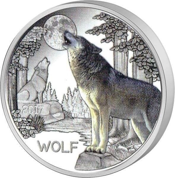 3 Euro Österreich Tier-Taler Wolf 2017