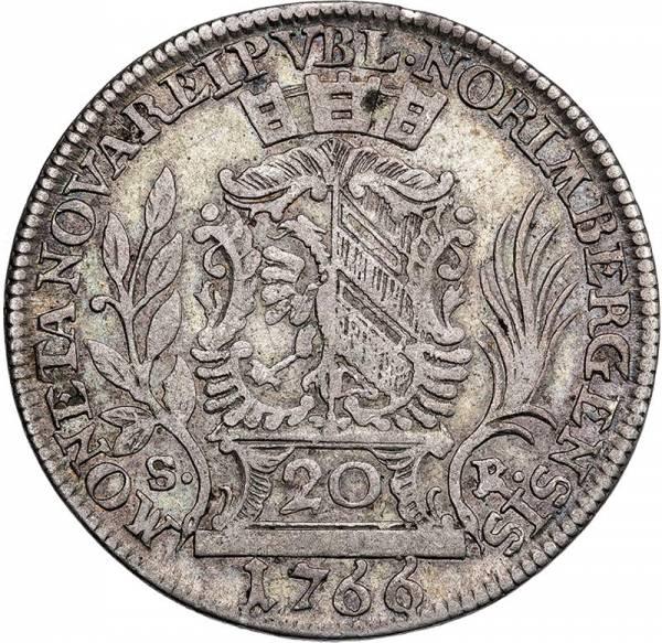 20 Kreuzer Nürnberg Stadtansicht 1766-1768