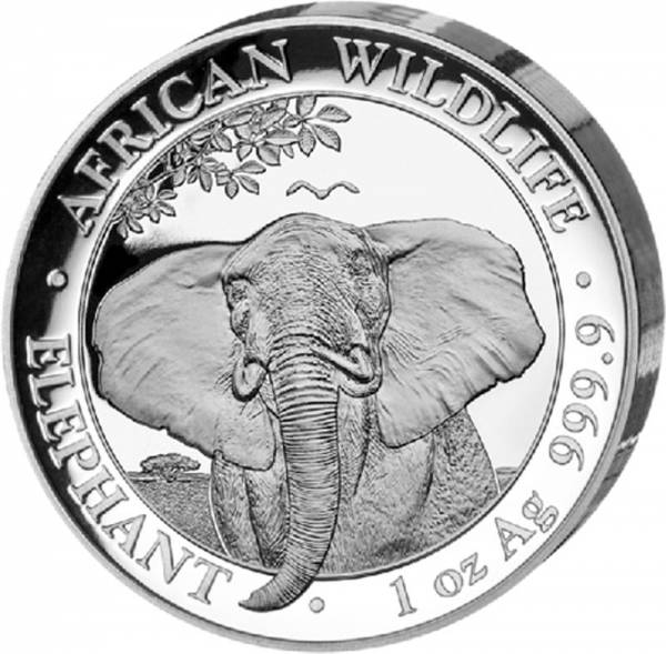 100 Shillings Somalia African Wildlife Ultra Hoch-Relief Elefant 2021