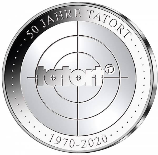 Gedenkprägung 50 Jahre Tatort 2019