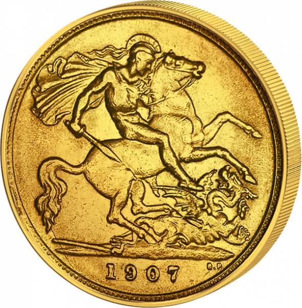 1⁄2 Sovereign 1/2 Sovereign Großbritannien King Edward VII.  1902-1910  Sehr schön
