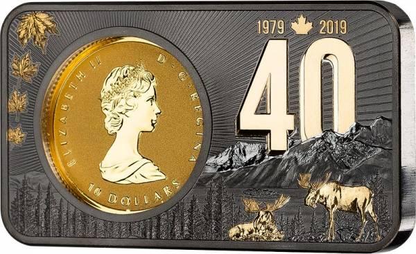 10 Dollars Kanada Maple Leaf Jubiläumsbarren 2019