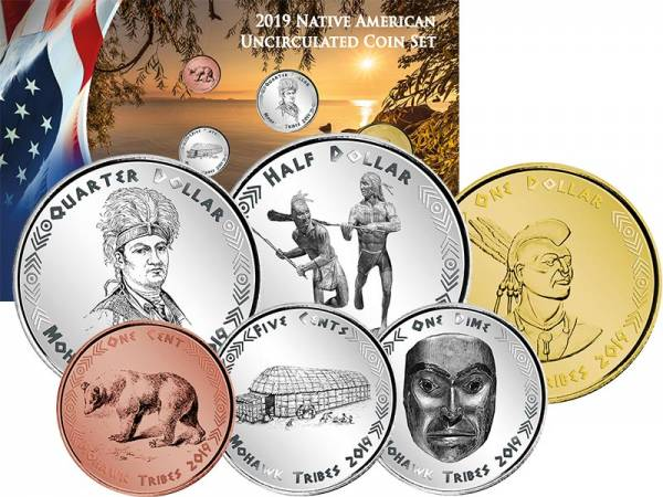 1 Cent - 1 Dollar Kursmünzensatz USA Kursmünzen der Mohawk 2019