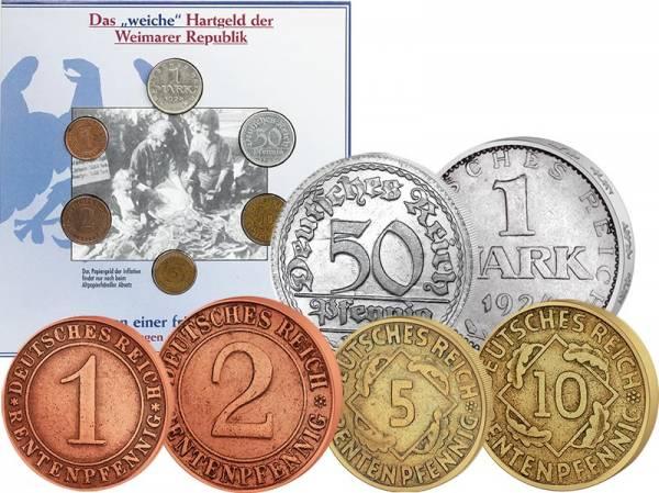 1 Pfennig - 1 Mark Weimarer Republik 1919-1925