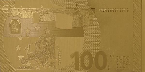 100 Euro BRD Goldfolien-Banknote 2019
