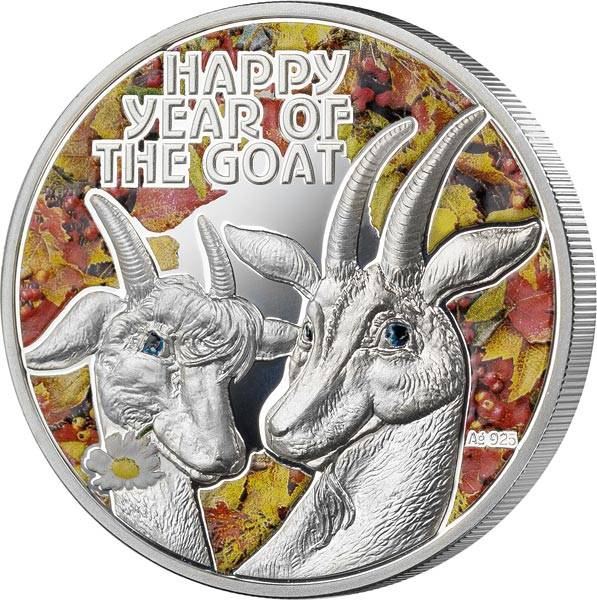 1 Dollar Niue Jahr der Ziege 2015