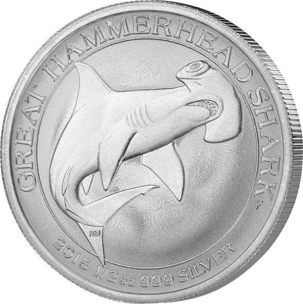1/2 Unze Silber Australien Hammerhai 2015