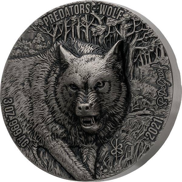 5.000 Francs Elfenbeinküste Predators Wolf 2021
