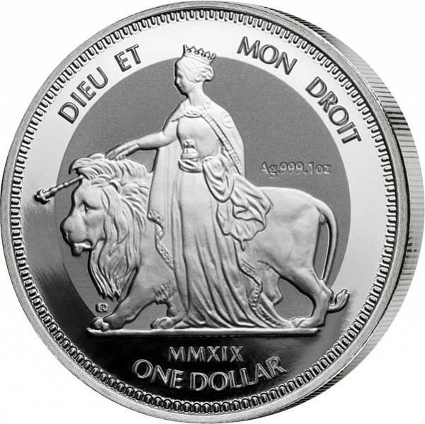 1 Unze Silber Britische Jungferninseln Una und der Löwe 2019