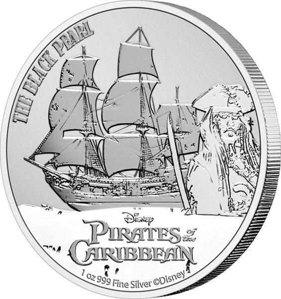 1 Unze Silber Niue Black Pearl 2021