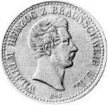 Taler Silber Wilhelm Herzog z. Braunschweig 1839 Sehr schön