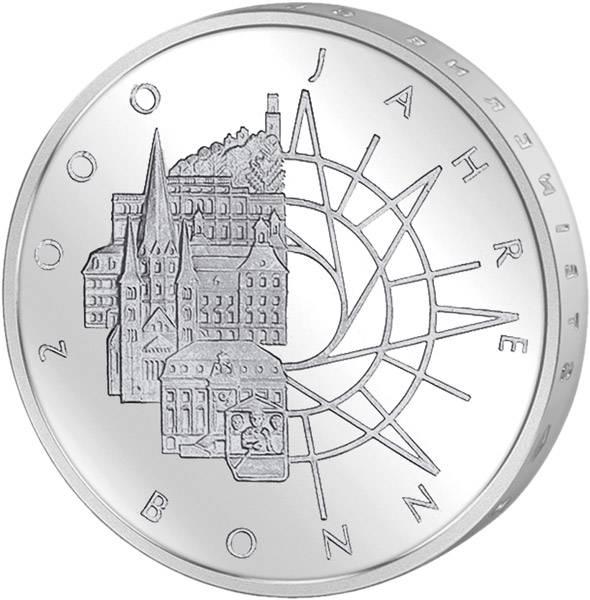 10 DM BRD  2000 Jahre Bonn 1989 D vorzüglich