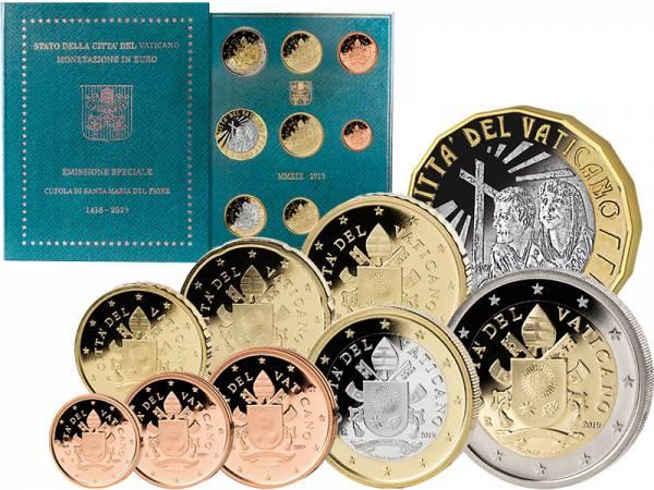 Euro-Kursmünzensatz Vatikan 2019 inklusive 5-Euro-Gedenkmünze