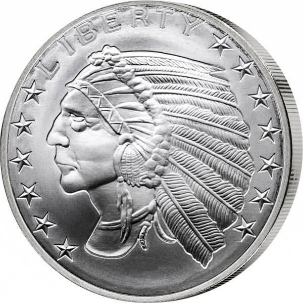 1 Unze Silber Gedenkprägung Incuse Indian