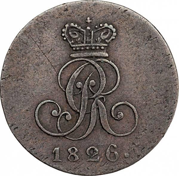 1 Pfennig Hannover König Georg IV. 1821-1830