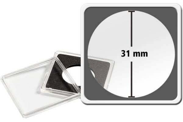 10er-Pack QUADRUM-Münzkapsel Durchmesser 31 mm