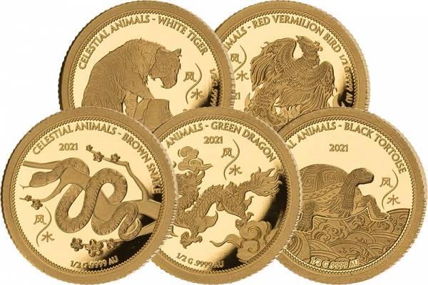 5 x 50 Tala Samoa Feng Shui Gold 2021