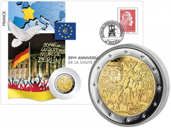 2 Euro Numisbrief Frankreich 30 Jahre Fall der Berliner Mauer 2019