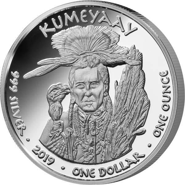 1 Dollar USA Native State Dollar Kumeyaay Grizzlybär Kalifornien 2018