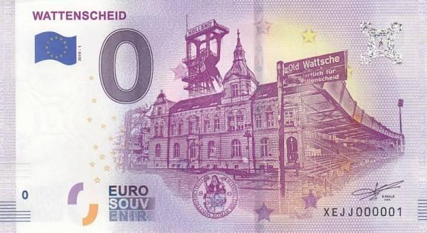 0-Euro-Banknote Wattenscheid 2019