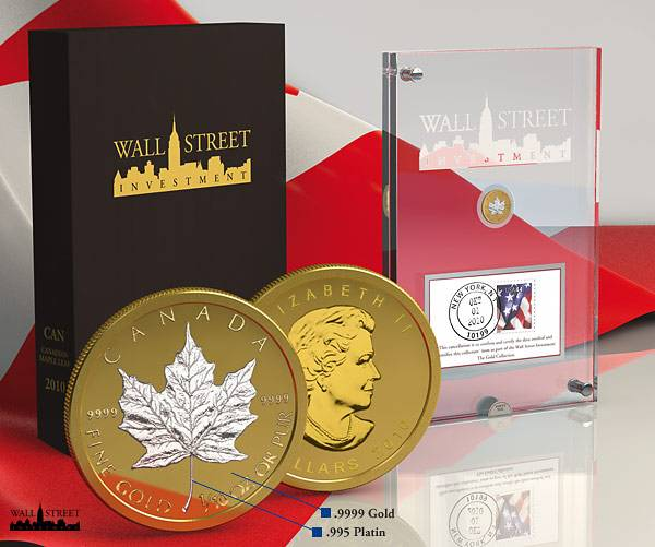 1/10 Unze Wall Street Investment Maple Leaf 2010 Polierte Platte
