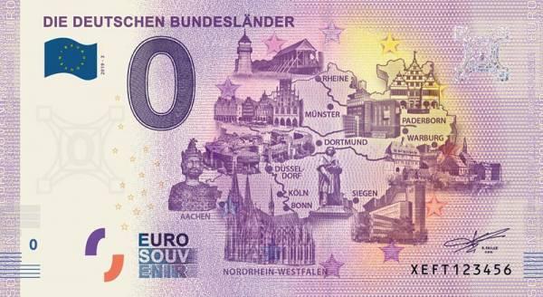 0-Euro-Banknote Bundesland Nordrhein-Westfalen 2019