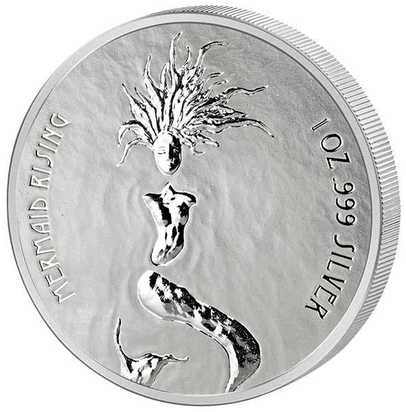 1 Unze Silber Fidschi Auftauchende Meerjungfrau 2018