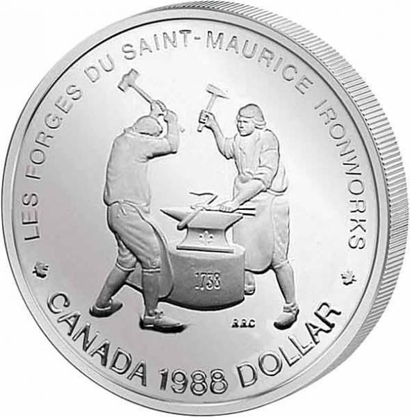 1 Dollar Kanada 250 Jahre Saint-Maurice Eisenhütte