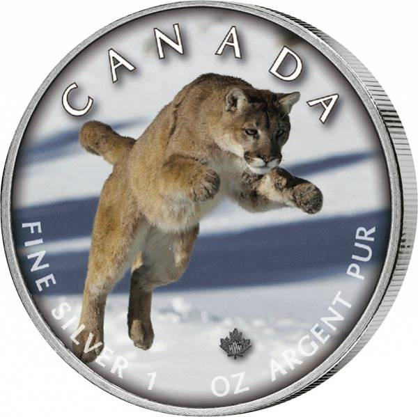 5 Dollars Kanada Trails of Wildlife Puma 2019