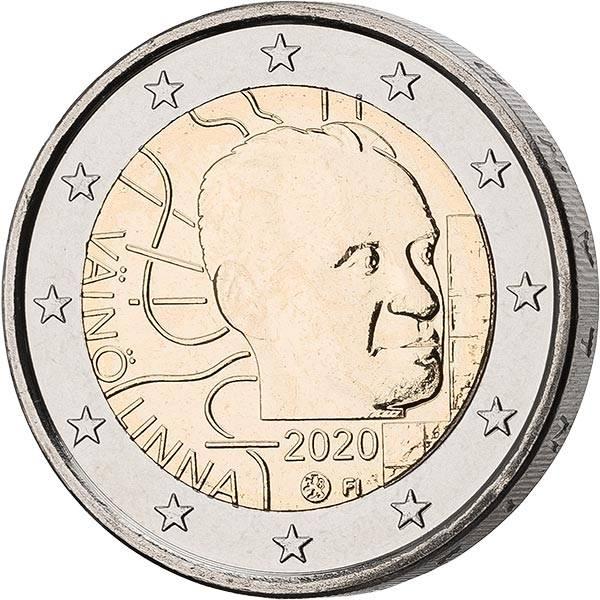 2 Euro Finnland 100. Geburtstag von Vaino Linna 2020