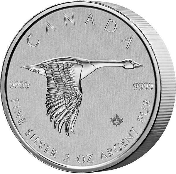 2 Unzen Silber Kanada Kanadagans 2020