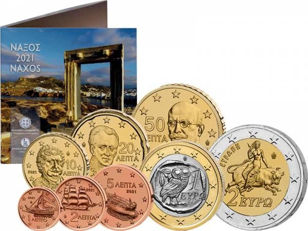 Euro-Kursmünzensatz Griechenland Naxos 2021
