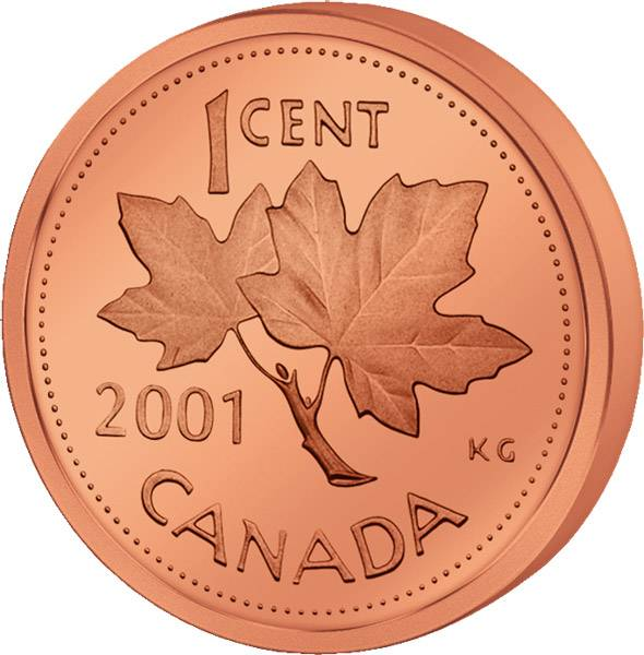 1 Cent Kanada Maple Leaf 1981-2012 Polierte Platte