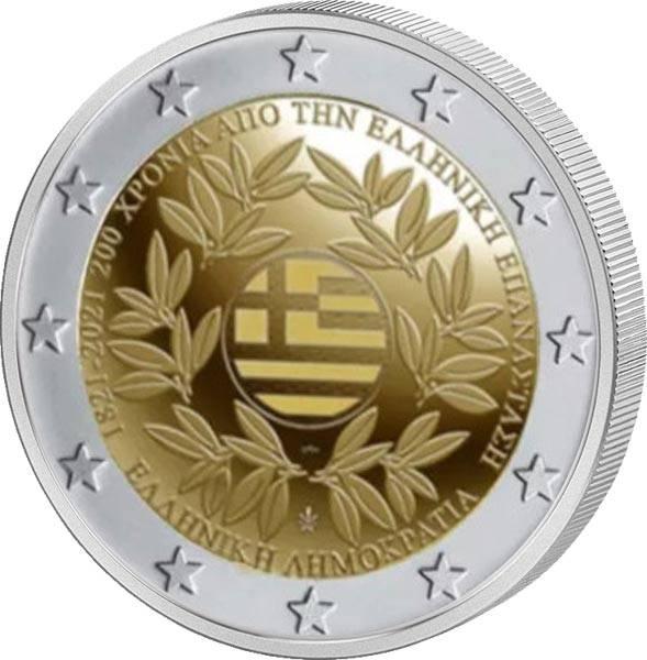 2 Euro Griechenland 200 Jahre Griechische Revolution 2021