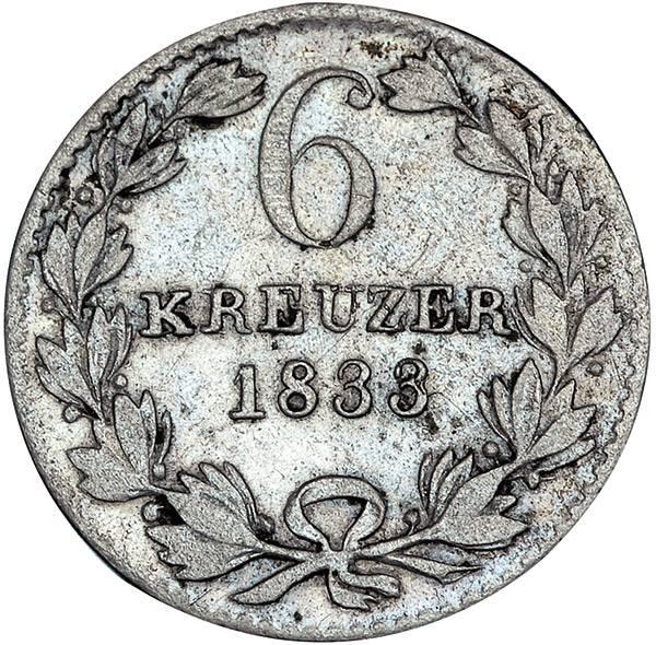 6 Kreuzer Baden Großherzog Leopold