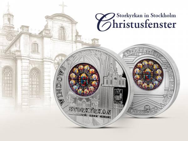 10 Dollars Cook-Inseln Stockholms Storkyrkan Christusfenster 2015  Prooflike