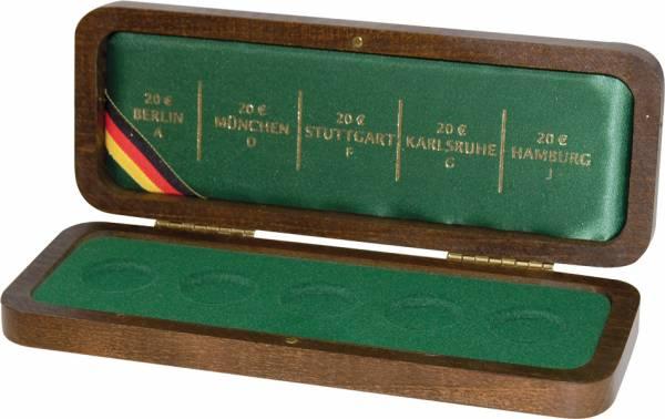 für 5 x 20 Euro Münzetui für Prägestättensatz Deutscher Wald